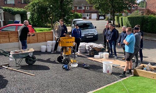 Resin Bound Driveway Training - Onsite Demonstration